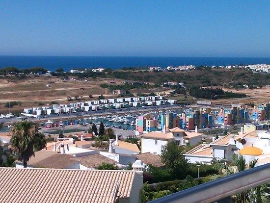Encosta da Orada: View over the marine from the living room (plus balcony)  (right side)