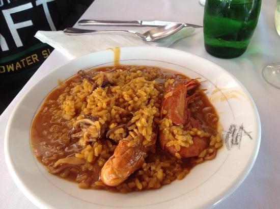 Bar Restaurante Aduana : el plato del arroz meloso de marisco