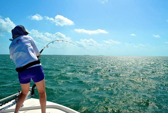 Dream Catcher Charters: Fighting the First Tarpon I Caught
