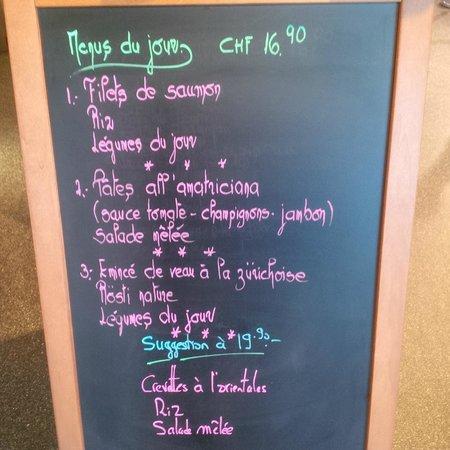 Ch'Etoy Cafe Restaurant : Plusieurs Menus du Jour + Suggestions