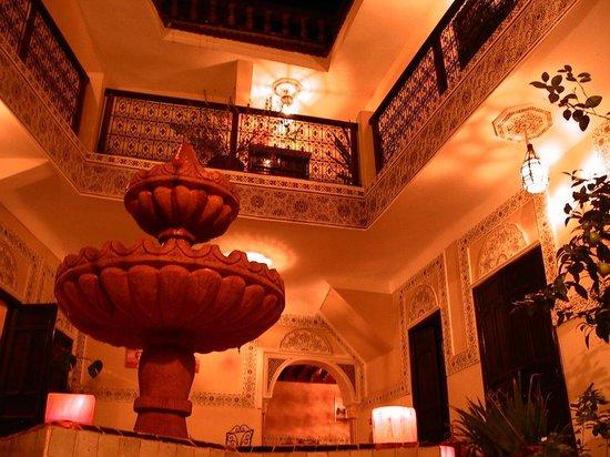 Riad El Farah: la jolie vue du patio sur les chambres