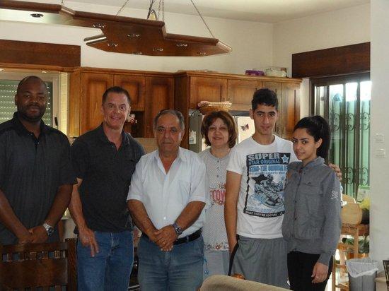 Khouriya Family Guesthouse: Vernon and me with Khouriya family