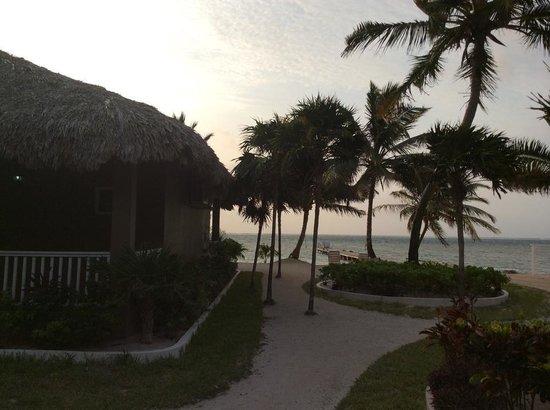 Sapphire Beach Resort: A beautiful morning in paradise waiting as the sun rises.