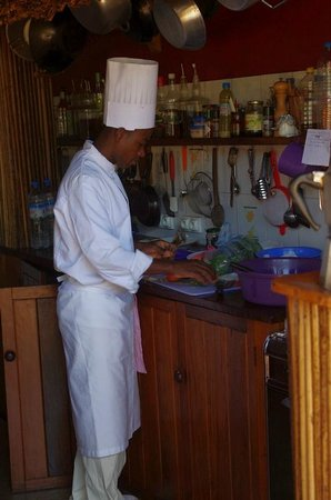 Gîte Guyan: le chef en tenue ...