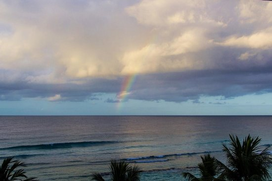 Coconut Court Beach Hotel: Morning rainbow in front of Coconut Court!