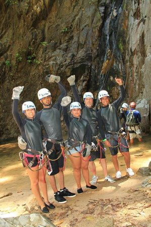 Outdoor Adventure by Vallarta Adventures: Just finished repelling