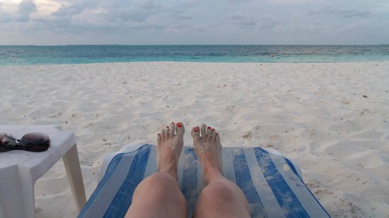 sandy toes on the beach at Bahama Beach Club