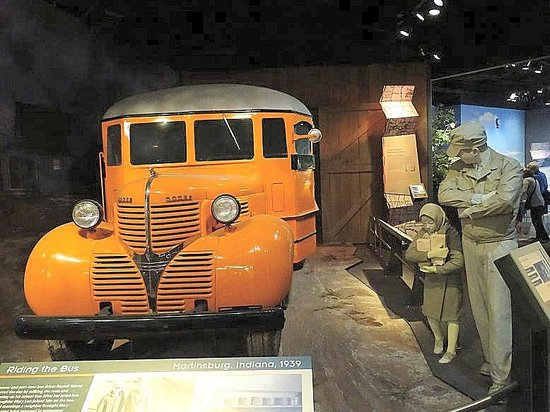 Smithsonian Institution Building: 1936 dodge school bus