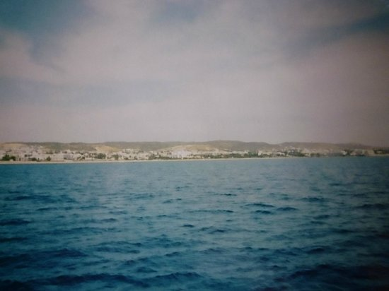 Mediterranee Thalasso Golf: Вид с моря на пляж