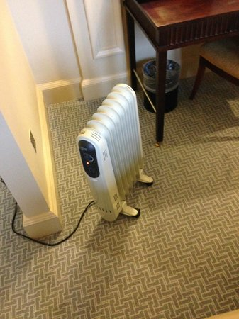 Waldorf Astoria Edinburgh - The Caledonian: The heater in an expensive room......