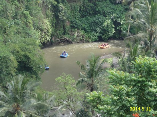 The Royal Pita Maha: Overlooking the Ayung river and white water rafters