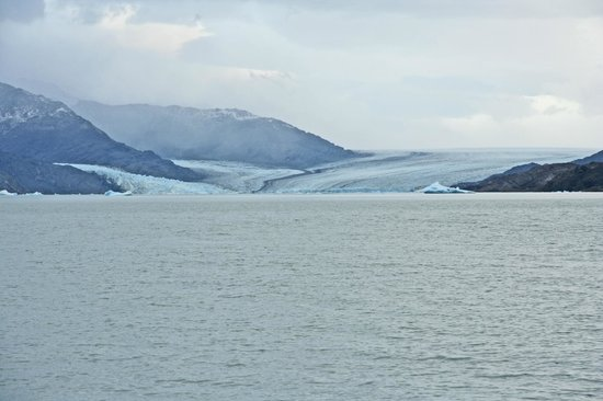 Upsala Glacier: As close as our boat got to the Upsala ( A little bit of Zoom)