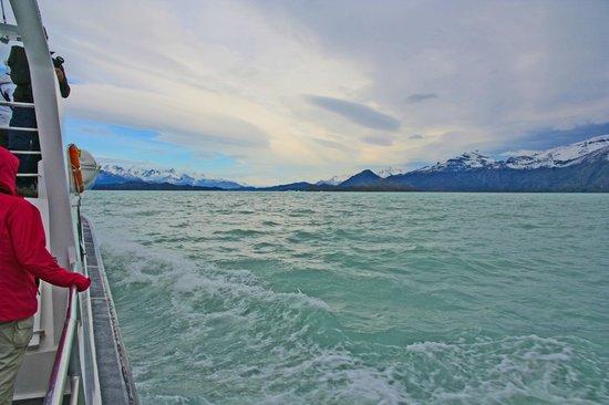 Upsala Glacier: On our way up the lake