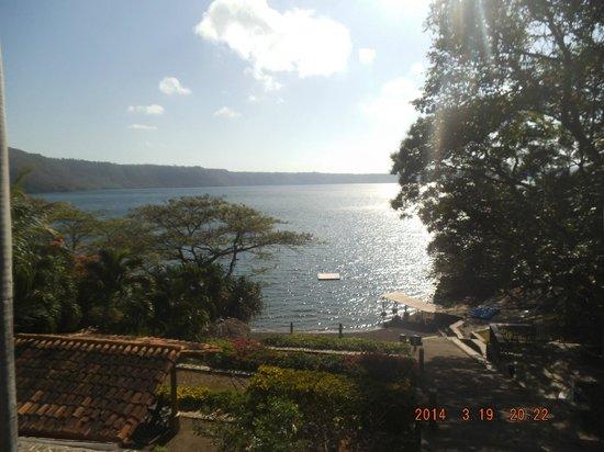 The Monkey Hut: Vue de la lagune depuis la chambre