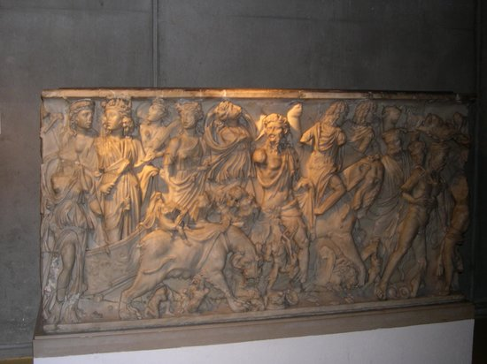 "Museum of Gallo-Roman Civilization: Sarcophage ""Le triomphe de Bacchus"""