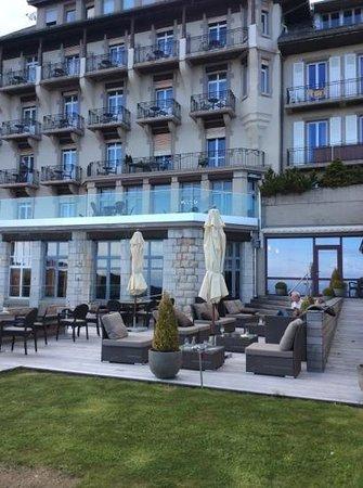 Grand Hôtel des Rasses : terrasse