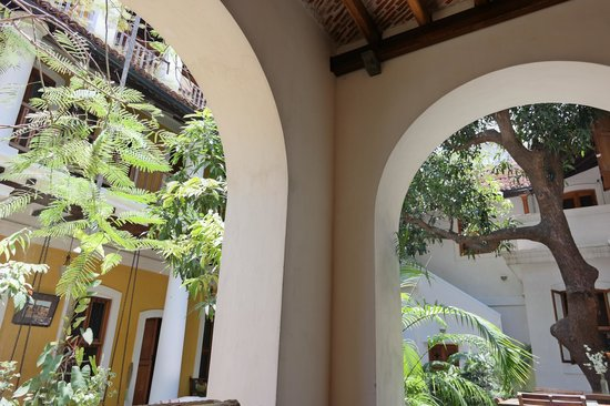 Gratitude, a Heritage Home: view from sitting area to the courtyard