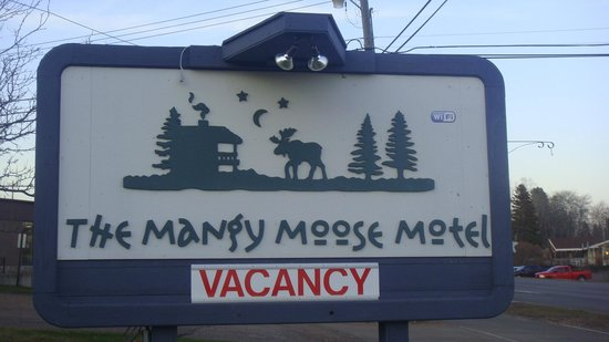 Mangy Moose Motel: Motel Sign