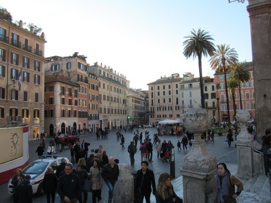 Dolce Vita Rome: Piazza de Spagna from the Spanish Steps