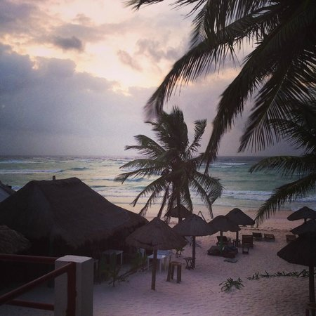 Amelie Tulum : view from balcony