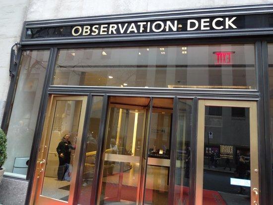 Plate-forme d'observation du GE Building : Começo