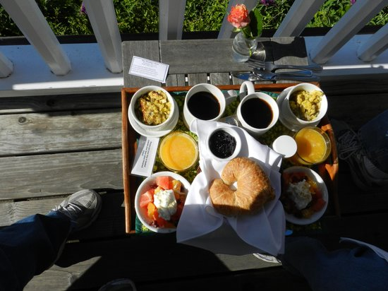 Glendeven Inn Mendocino : Amazing breakfasts