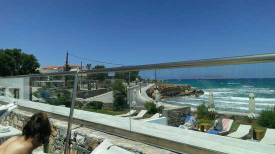 The Island Hotel : View along road to Gouves from terrace.