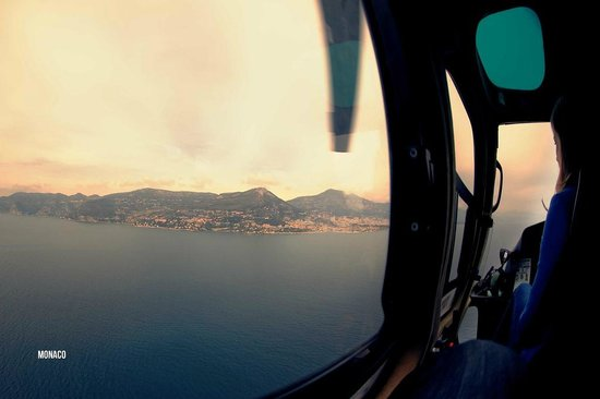 Columbus Monte-Carlo: View from the helicopter ride