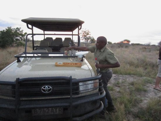 Haina Kalahari Lodge: Sundowners