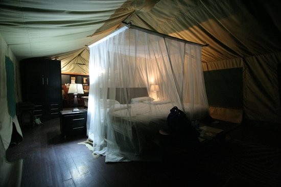 Haina Kalahari Lodge: Luxury Tent turned down