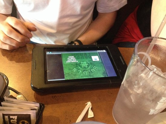 Buffalo Wild Wings: The tablet for Texas Hold'em