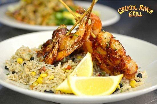Gruene River Grill: Jalapeno Glazed Shrimp Brochette