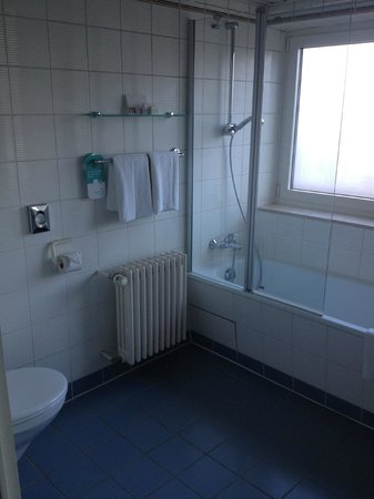 Mercure Hotel Freiburg am Muenster : large but outdated bathroom