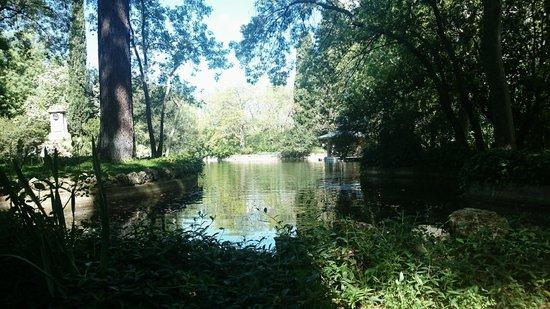 Parque de El Capricho: Estanque de los cisnes