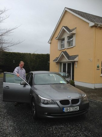 Marlinstown Court: Larry ready to take us for a trip in his car :) Thank you!