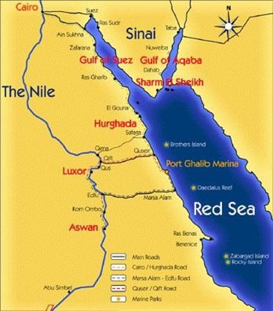Map Of Red Sea Red Sea Map   Picture of Red Sea Diving College, Sharm El Sheikh