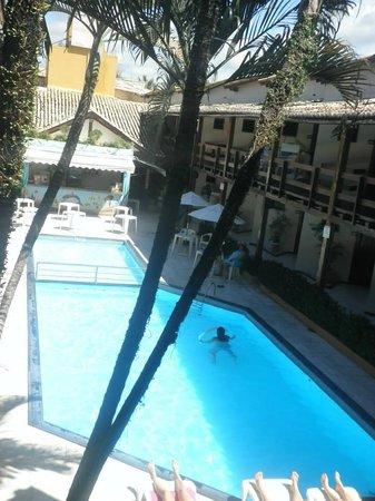 Adriattico Hotel: acesso aos outros quartos e p descer as escadas e uma varanda