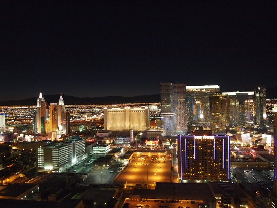 Signature at MGM Grand: The View from the balcony