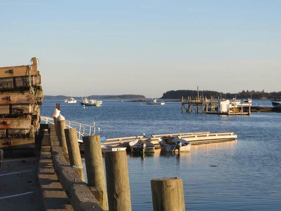 Fisherman's Friend is right on the pier in Stonington, Maine. Gorgeous!