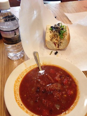 Gorgers: Lunch special 1/2 sandwich, soup & beverage for $7