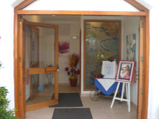 Aparthotel Roc Las Rocas: entrée sur l'espace restauration matin/ midi/ soir