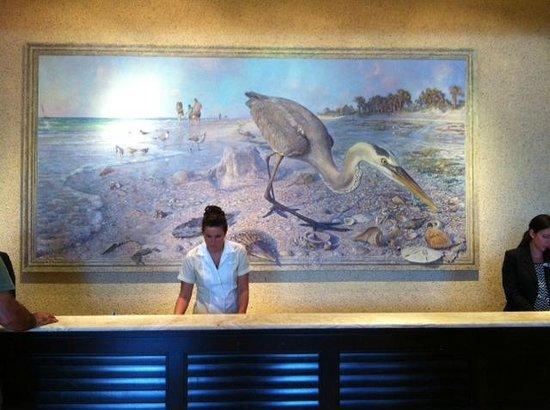 Sandpearl Resort: Huge painting over the reception desk