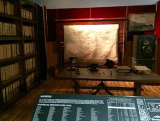 Museo Marítimo Ría de Bilbao: 大航海時代を思わせるオフィス