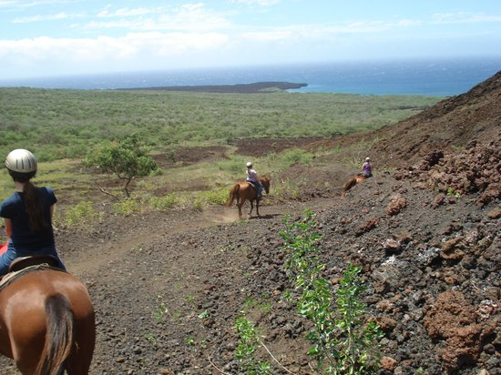 Makena Stables: Down the trail