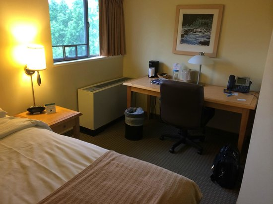 The National Conference Center: My cell, as seen from the foot of the double bed
