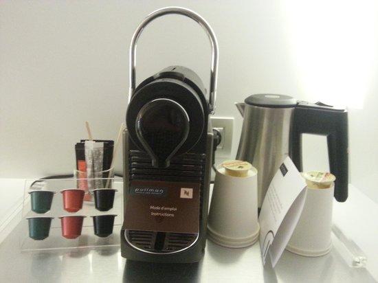 Pullman Brussels Centre Midi Hotel: Nespresso coffee