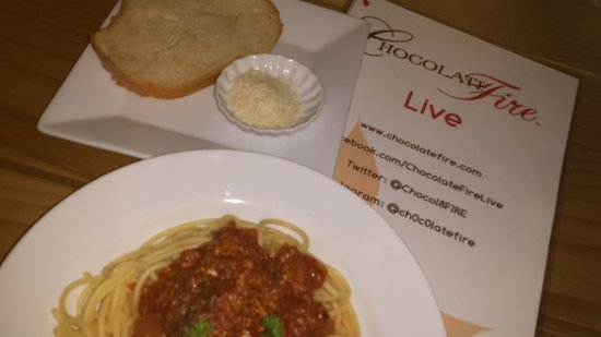 Chocolate Fire : Bolognese Pasta