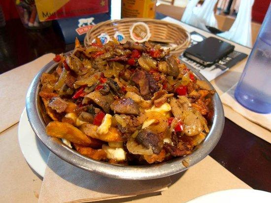 La Frite Alors! (green peppers, mushrooms, onions & bacon)