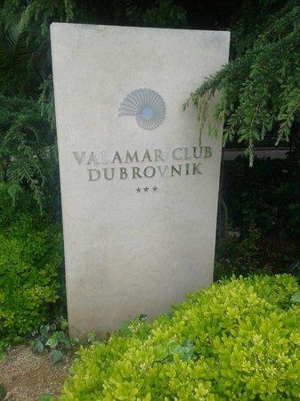 Valamar Club Dubrovnik : Enseigne du Valamar Club