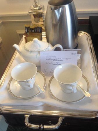 The Savoy: Lovely pot of English tea on arrival